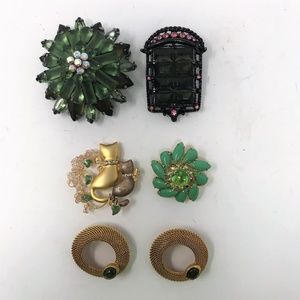 Mixed Lot of 6 Vintage & Modern Costume Brooches